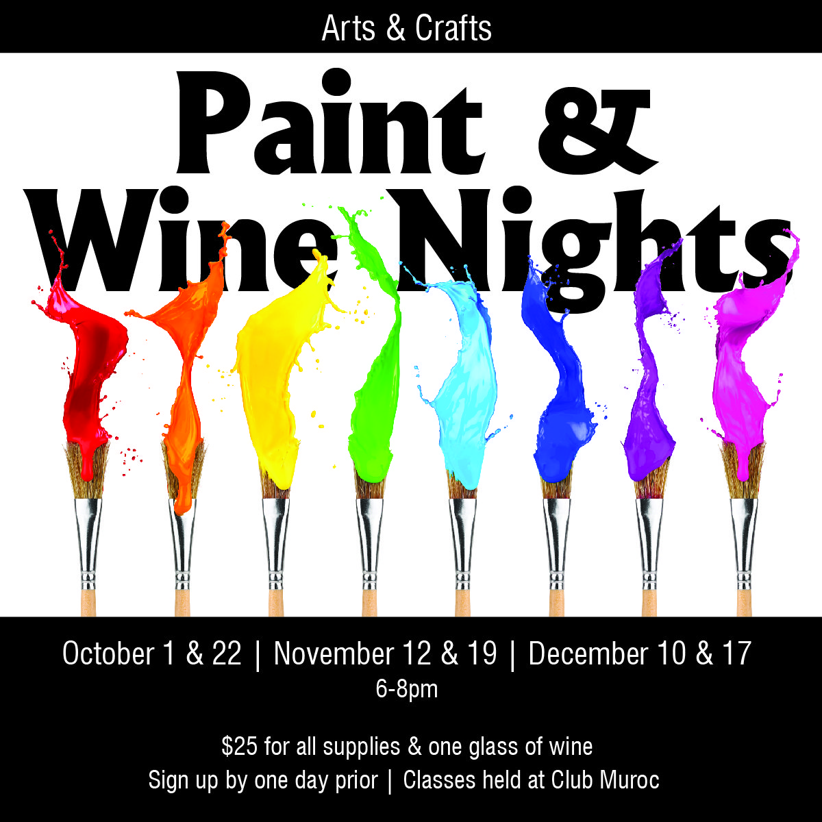 Edwards Air Force Base - Arts & Crafts - Paint Nights
