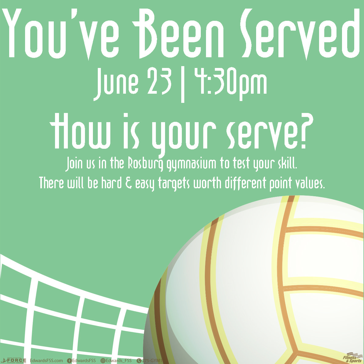 You've Been Served-Edwards Air Force Base Gym